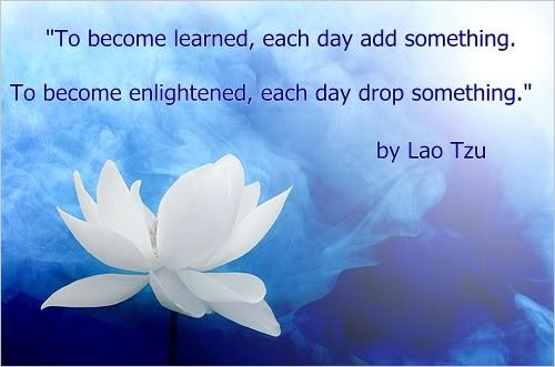 To become learned, each day add something